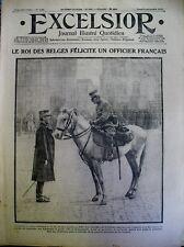 WW1 ROI DE BELGIQUE LEGION D'HONNEUR AU DRAPEAU 7e RGT INFANTERIE EXCELSIOR 1914