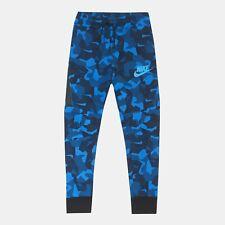 Youth Nike Sportswear Tech Fleece Sweatpants Size Medium Blue Black Camo 828723