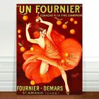 """Stunning French Vintage Poster Art ~ CANVAS PRINT 16x12"""" ~ Fournier Champagne"""