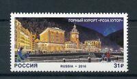 Russia 2016 MNH Rosa Khutor Alpine Resort 1v Set Buildings Architecture Stamps