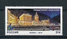 Russia 2016 MNH Rosa Khutor Alpine Resort 1v Set Buildings Architecture Stamps