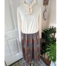 New listing Vintage 70s Plaid Ruffle Dress