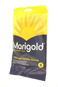 MARIGOLD EXTRA LIFE KITCHEN GLOVES SMALL SIZE TRIPLE LAYERED COTTON LINED CUFFS