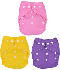 KidLand's Reusable Washable Diaper with 1 piece Cloth Insert-Set of 3
