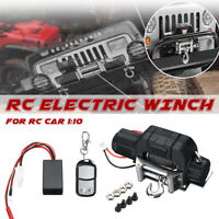 Off Road RC Car Metal Electric Winch Control for 1/10 TRX4 Axial SCX10 RC4WD D90