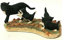Rare Vintage Border Fine Arts Schmid Cat With Kittens Figurine 1983 Judy Boyt