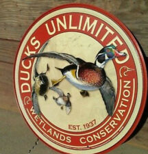 Ducks Unlimited Wetlands Hunting Metal Ad Sign Garage Cave Decor Picture Gift