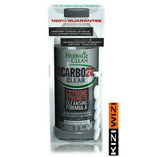 Herbal Clean QCarbo 20 oz Clear LEMON LIME & 5 SUPER BOOST TABLETS