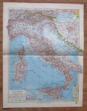 Italien Italy - alte Landkarte Karte old map 1928