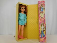Ideal Toy Co. 1968 Crissy Doll & Clothes With 1970 Fashion Tote Vintage
