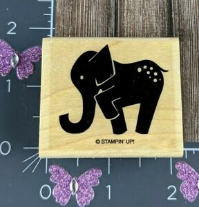 Stampin Up Rubber Stamp Elephant Standing Spotted #W115