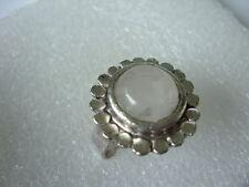 Topas Fingerring runder 21 mm weißer Topas Ring verstellbar von 18 -21 mm