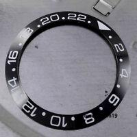 New 39.9MM Black Ceramic Bezel Insert Watches Fit Automatic Movement Men's Watch