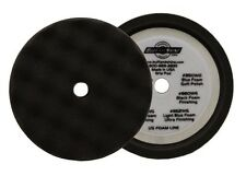 "BUFF AND SHINE 8"" FINISHING BLACK WAFFLE FOAM HOOK-IT BUFFING PAD 820WG"