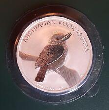 2010 Australia Kookaburra 1 oz 999 Silver Coin - BU in plastic cap