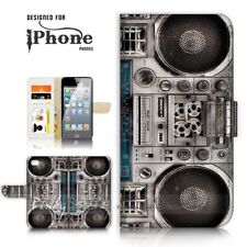 ( For iPhone 6 / 6S ) Wallet Case Cover P21056 Boom Box