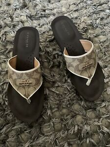 coach slippers size 6.5