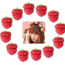 12pcs Girls Strawberry Balls Hair Care Soft Sponge Rollers Curlers DIY Tool -S
