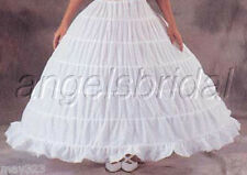 MEGA FULL COTTON 6 HOOP BONE BRIDAL WEDDING GOWN PROM DRESS PETTICOAT SKIRT SLIP