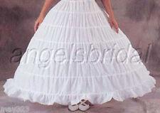 MEGA FULL COTTON 6 HOOP BONE BRIDAL WEDDING GOWN PROM DRESS PETTICOAT SKIRT SLIP