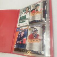 """Lot """"Extra"""" Serial Numbered hockey 17 cards, rare ? In Small binder see photos"""