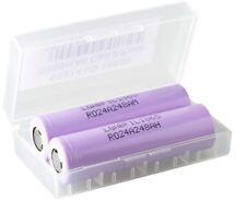 2X LG Li-Ion Akku 18650  - 3350 mAh / 3,7V Akkubox für E-Zigarette E-Shisha usw.