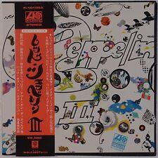 LED ZEPPELIN: III Rare JAPAN Atlantic NEAR MINTP-10106A Vinyl LP Complete!