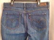 """LEVI'S jeans BOLD CURVE SKINNY sz 31x32 medium wash 31W 32""""  Distressed"""