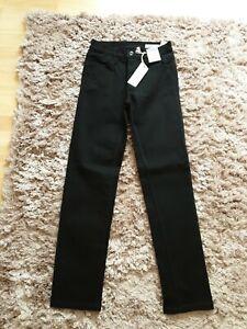 M&S Straight Mid Rise Black Jeans, Size 8 Regular. BNWT
