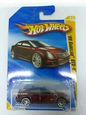 HTF 2010 HOT WHEELS NEW PREMIERE 1/64 SCALE BURGANDY '09 CADILLAC CTS-V SEDAN