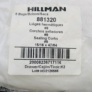 """Corks Hillman Bag Of 2 Hard to Find Sealing Stoppers 15/16X47/64 Lot of 2, 1"""""""