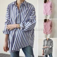 ZANZEA Women Casual Long Sleeve Loose Tops Collared Button Down Shirt Blouse NEW