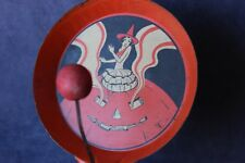 Vintage TC or Cohn - Deco Lady - Halloween Noise Maker 1950s - Tin Excellent