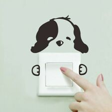 Cute Dog Vinyl Wall Stickers Pet Switch Home Decoration Funny Kid Decor Decals