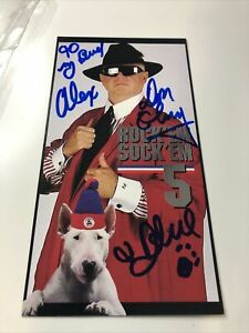 ROCK 'EM SOCK EM 5  Don Cherry, Blue the Dog autograph 8in x 4in promo card