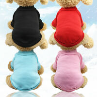 Classic Small Dog Clothes Pet Puppy Warm Vest Fleece Cat Apparel 4 Colors XS-XXL