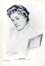 La Deutsche attrice Agnes Sorma zeichnungv. Joseph Hein Berlino Kun... 1910