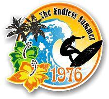 Aged Retro Surf board Surfing ENDLESS SUMMER 1976 Car Camper van sticker decal