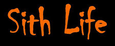 Rebel Orange Sith Life Transfer Sticker