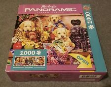 "Newland 1000 Pieces - Panoramic ""Puppies"" Jigsaw Puzzle"