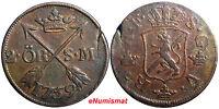 SWEDEN COPPER Adolf Frederick 1759 2 Ore,S.M Low Mintage:352,000 SCARCE KM#461