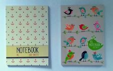 A5 NOTEBOOK WRITING RULED LINED STUDENT OFFICE HOME SCHOOL BIRDS ANCHOR NAUTICAL