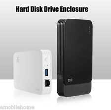"""DM WFD027 Wireless WiFi Hard Disk Drive Enclosure USB 3.0 SATA for 2.5"""" HDD SSD"""