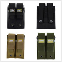 Pistol Mag Pouch Single & Double Stack Tactical Magazine Holster with Magic Tape