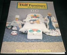 Real Doll Furniture For Fashion Dolls Wimpole Street Creations Book 1989 Bkfur12