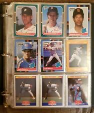 Binder of Rookie & Prospects Baseball Cards, Late 80s-Early 90s, Over 125 Cards