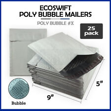 25 X 5x9 Self Seal Poly Bubble Mailers Padded Shipping Envelopes Bags 5 X 9