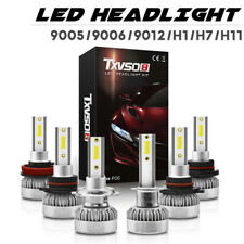 1 Pair TXVSO8 9005 9006 9012 H1 H11 H7 COB LED Car Headlight Bulbs 110W 20000LM