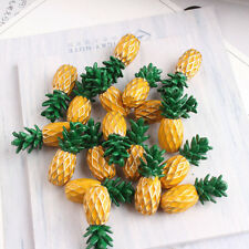 20pcs/lot Enamel Mini Pineapple Charms DIY Pendant Jewelry Accessories 22x9mm