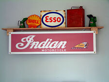 Indian Motorcycle Banner-Taller Garaje Señal, Chieftain, Jefe, Scout